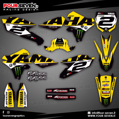 Grafiche per Yamaha BRANDS YELLOW